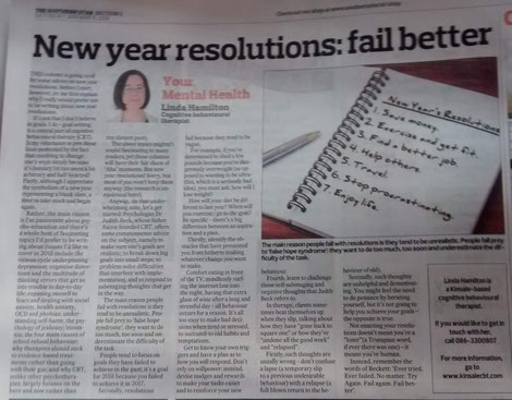 Linda Hamilton's Southern Star column on 2018 new year resolutions.