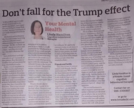 Linda Hamilton's Southern Star column on repeating lies and CBT.