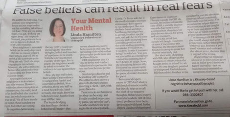 Linda Hamilton's Southern Star CBT column on behavioural experiments.