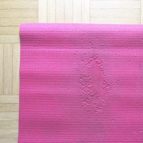 Yogamatte aus Indien, Farbe: rot