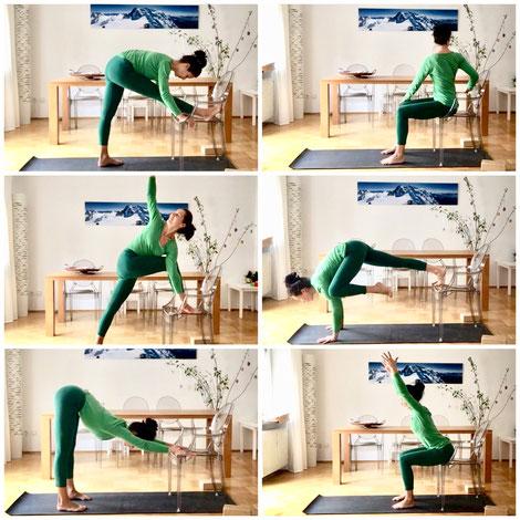 Foto: 6 Yogaübungen mit Stuhl