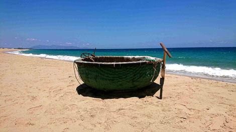 vietnam-sueden-handwerk-tradition-rundboot-Fischerboot-Küstenstrassen-Kulturgut-Bambus-Handarbeit