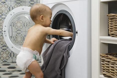 Waschmaschine und Trockner