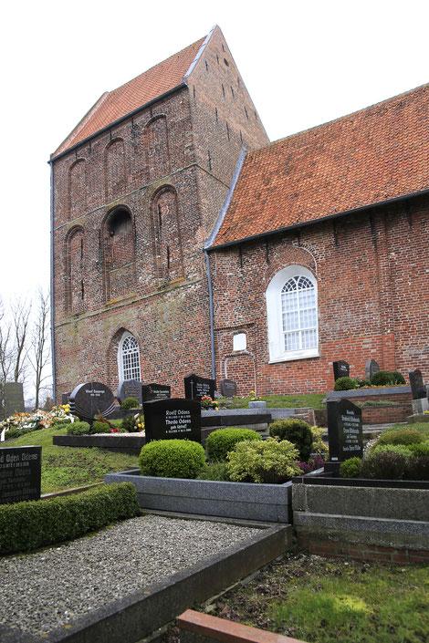 Kirche Suurhusen, die Kirche mit dem schiefsten Turm der Welt