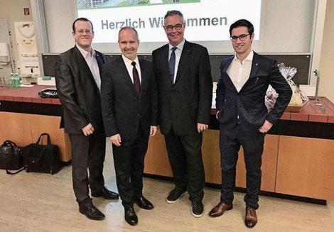 Mirco Rossi, Stefan Kölliker, Lothar Ritter und Sascha Schmid (v.l.n.r.)