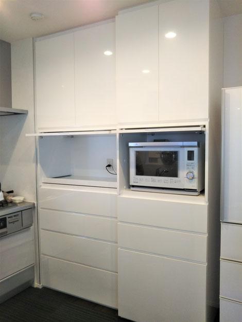 キッチン収納 カップボード 収納扉 オーダー家具