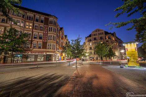 Bürgermeister-Smidt-Straße in der Abenddämmerung