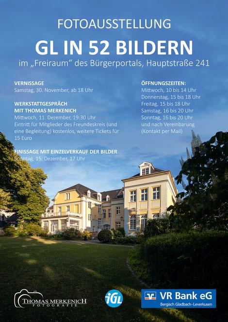 """Plakat zur Ausstellung """"GL in 52 Bildern"""""""