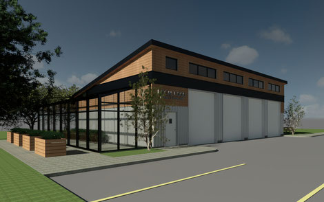 Conceptual exterior design of LFM facility