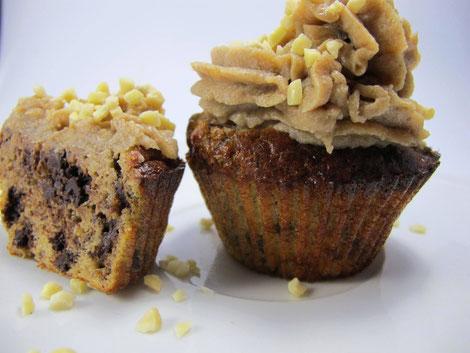 Paleo (glutenfrei und lowcarb) Bananenmuffins mit Maronentopping
