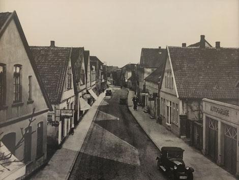 Lange Straße in Cloppenburg um das Jahr 1920