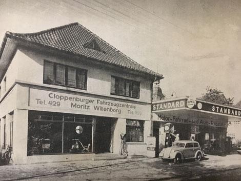Fahrzeugzentrale am neuen Standort Löninger Straße; um 1935