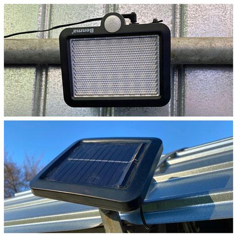 Eine Solarlampe fürs Heulager