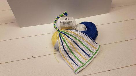 Babymütze gestrickt mit Lang Yarns Baby Cotton