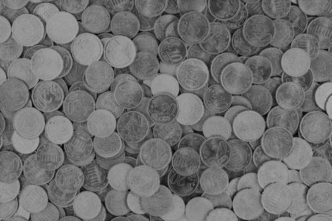 Münzberg aus Cent-Stücken