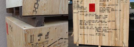 Kisten markieren - Verpackungsfirma Ottenbacher