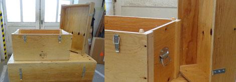 Sonderkisten von Ottenbacher - Kiste mit Zargendeckel, Griffen und Verschlüssen