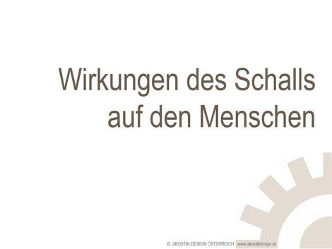 Wirkungen des Schalls - Seminar, Workshop, Information - Akustik ...