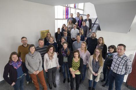 Die Regionalmanager der 11 LEADER-Regionen der Bezirksregierung Arnsberg mit den Ansprechpartnern des Dezernats 33.