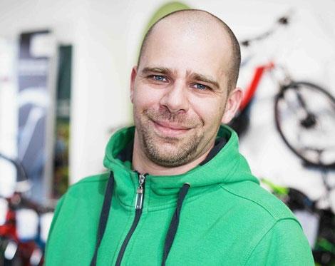 Christoph Dehlem,  Geschäftsführer eines e-Bike Fachhandelsgeschäftes