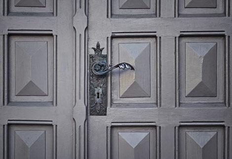 geschlossene Tür