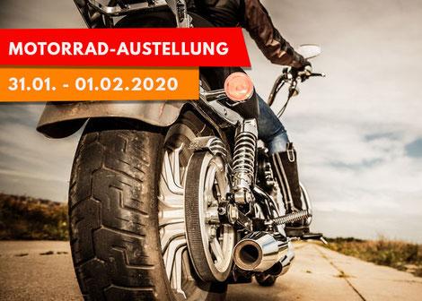 Poster Motorradausstellung bei Möbel Kraft