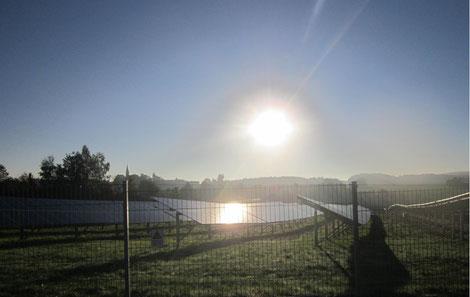 Blendungserscheinungen durch reflektierte Sonneneinstrahlung einer PV-Anlage