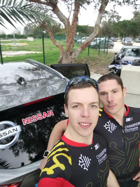 Szoldra Mathieu - Dubocage Simon Millau Grands Causses triathlon champion régional Bike&run run and bike