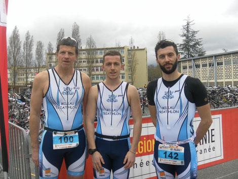 Millau Triathlon - Duathlon de Muret 2017 Damien Fages Franck Migout Simon Bianquis Simon Dubocage