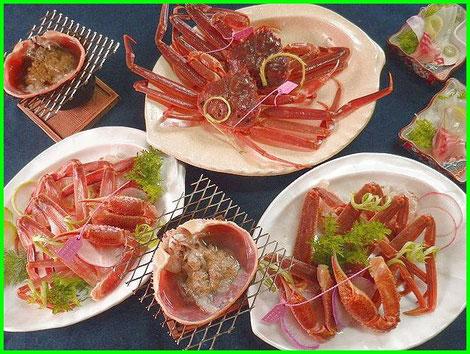 生きている松葉ガニを料理しました。