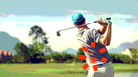 Lower back pain is a common issue that golfers experience.