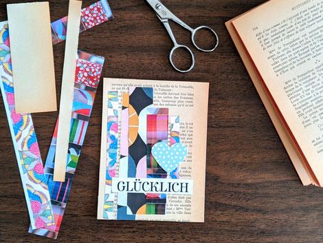 Basteln mit Buchseiten DIY Anleitung