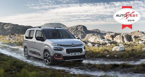 """So sehen Sieger aus - """"AUTOBEST Award 2019"""" für den Citroën Berling bei Autohaus Vallorani in Ebersberg"""