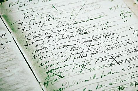Buch mit alter Handschrift