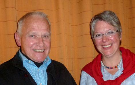 Dr. Burkhard Müller und Nachfolgerin Lucia Hamich.