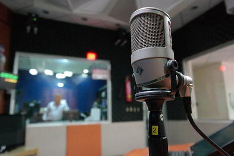 Vorbereitung für Tonaufnahmen