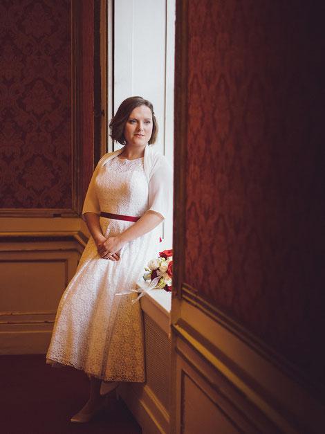 Hochzeitsportrait im Palais