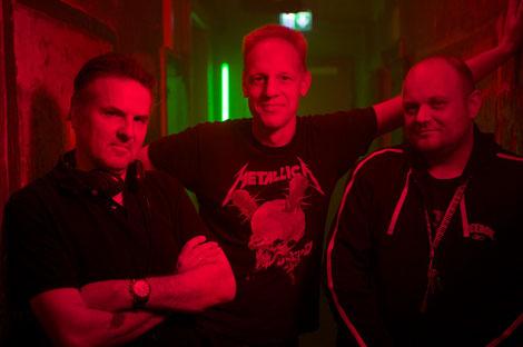 Das Trio der Angst: Andreas Marschall, Jörg Buttgereit und Michal Kosakowski