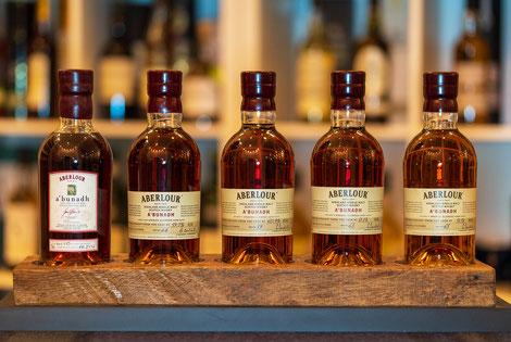 5 von 7 Flaschen des Abends