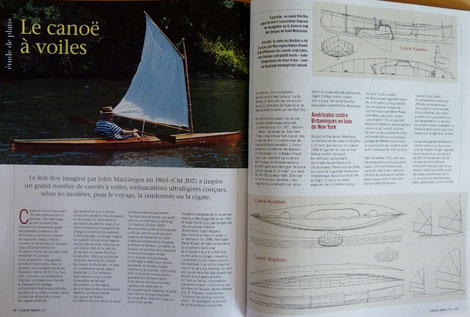 POIRIER, Le canoë à voiles, in Chasse-marée n°204, 2008 (la Bibli du Canoe)