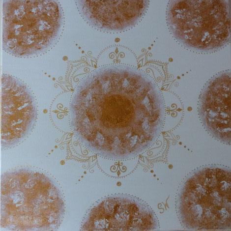 Energiebild München Mandala Mandalas Künstlerin Kunst Stefanie Will Ammersee Acrylbild selbstgemalt