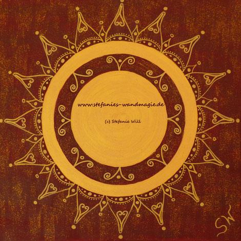 Mandala Mandalabild handgemalt Energiebilder Stefanie Will heilige Geometrie Leinwand Künstlerin Liebe Ammersee Kreativität Energie Spiritualität