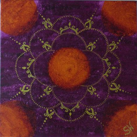 Energiebild München Mandala Mandalas Künstlerin Kunst Stefanie Will Ammersee Acrylbild selbstgemalt Chakra