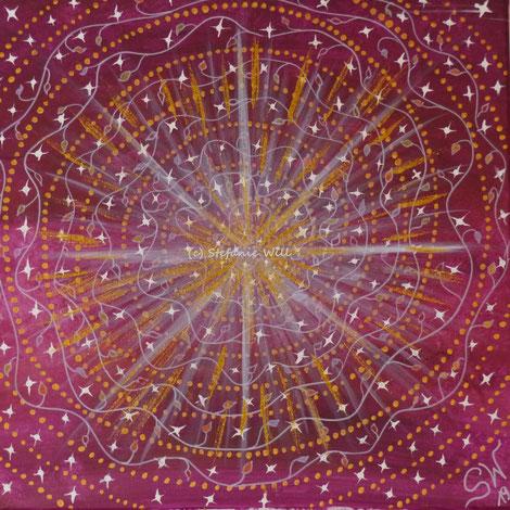 Energiebild Stefanie Will Quelle Bewusstsein Gottesfunke Stefanies Wandmagie Künstlerin Liebe selbstgemalt