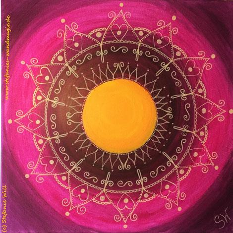 Mandala Kunst Künstlerin Stefanie Will Acrylmalerei Ammersee Bewusstsein Energie Spiritualität