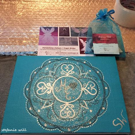 Mandala personalisiert selbstgemalt Kunst Energiebild Künstlerin Stefanie Will Stefanies Wandmagie Ammersee München