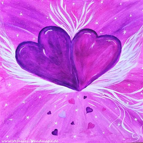Herzbild Herzen Herzensbild Reise Kunst Künstlerin Leinwand Farben Ammersee Stefanie Will Kreativität Spiritualität Herz Liebe Herzensliebe