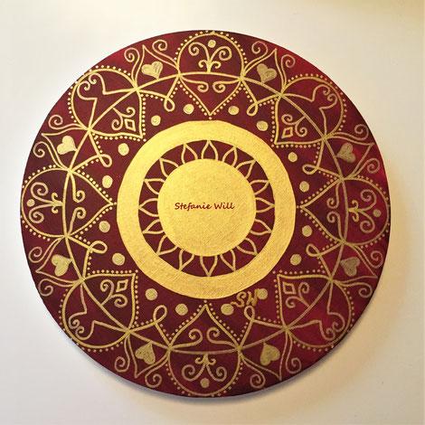 Mandala Mandalabild handgemalt Energiebilder heilige Geometrie Stefanie Will Leinwand Künstlerin Liebe Ammersee Kreativität Energie Spiritualität Kunst