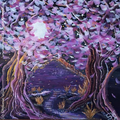 Lebensbaum Stefanie Will selbstgemalt Acrylbild Bewusstsein Energie Phantasie Stefanies Wandmagie Ammersee Künstlerin Liebe inneres Kind