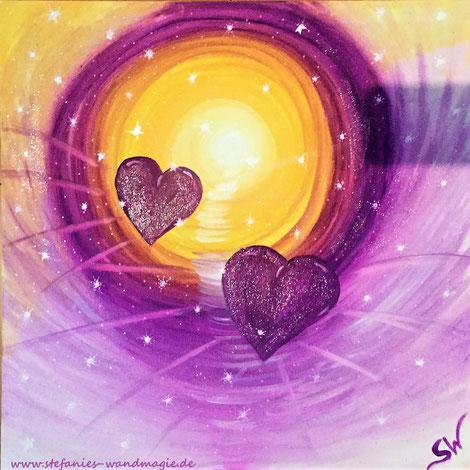 Herzbild Herzen Herzensbild Reise Kunst Künstlerin Leinwand Farben Ammersee Stefanie Will Kreativität Spiritualität Herz Liebe Herzensliebe Dualseelenliebe Dualseele Zwillingsseele